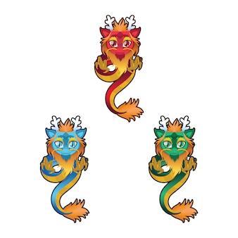 Japanische Drachen Sammlung