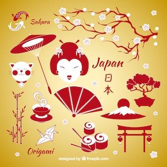 Japanischen Elementen
