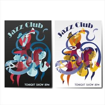 Jazzplakatansammlung