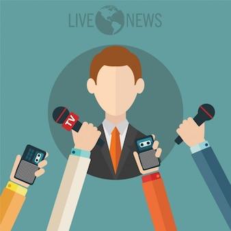 Journalismus Hintergrund Design