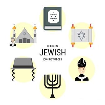 Jüdischen Religionen Icon Symbole