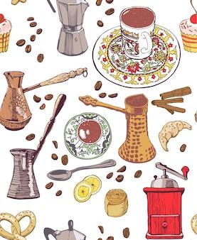 Kaffee-Muster