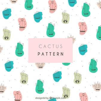 Kaktusmuster mit schönem Stil