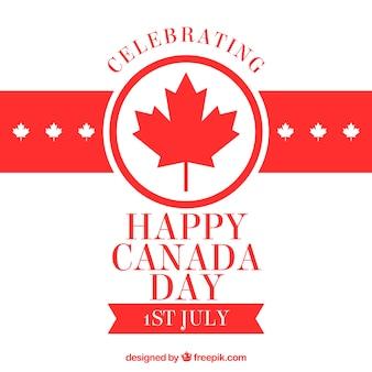 Kanada Tag Hintergrund in flachen Design