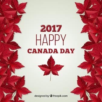 Kanada Tag Hintergrund mit realistischen Blättern