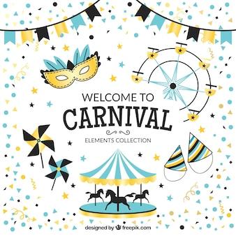Karneval-Elemente gesetzt