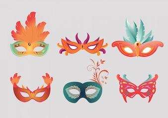 Karneval Masken Sammlung