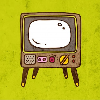 Karte Retro Plakat Cartoon alt
