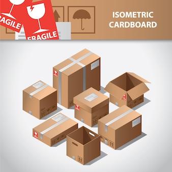 Karton isometrische Sammlung