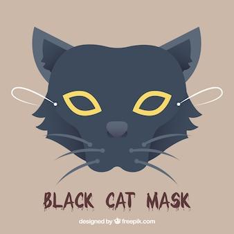 Katzenmaske in flachem Design