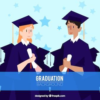 Klassenkamerad in Graduierung Hintergrund