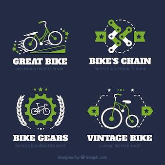 Klassische Bike Logos mit buntem Stil