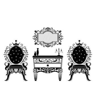 Klassische Möbelkollektion