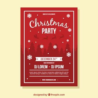Klassische Weihnachtsfeier-Plakatschablone
