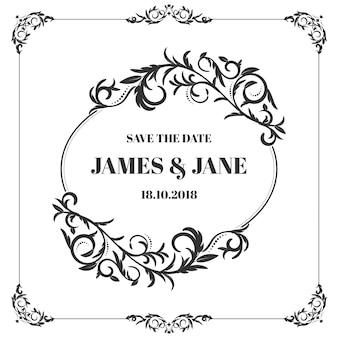 Klassischer Hochzeitsrahmen