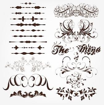 Klassisches elegantes filigranes festliches Etikett
