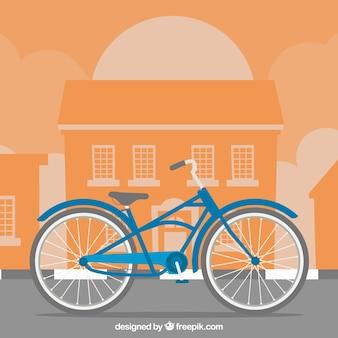 Klassisches Fahrrad in der Stadt