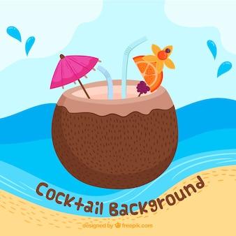 Kokosnuss-Cocktail-Hintergrund