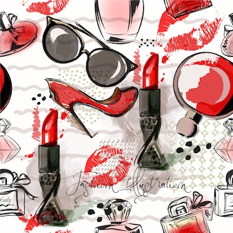 Kosmetikmuster Hintergrund