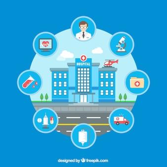 Krankenhaus Infografik