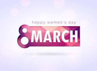 Kreativ glücklich Womans Day Gruß Design-Hintergrund
