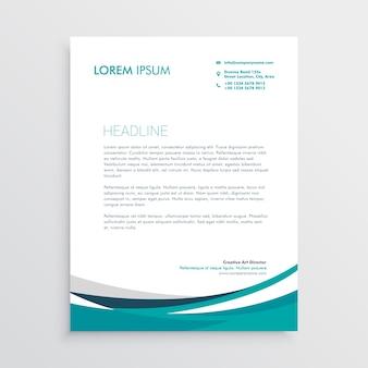 Kreative blaue Welle Geschäft Briefkopfentwurf