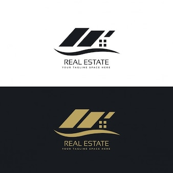 Kreative Immobilien-Logo-Design