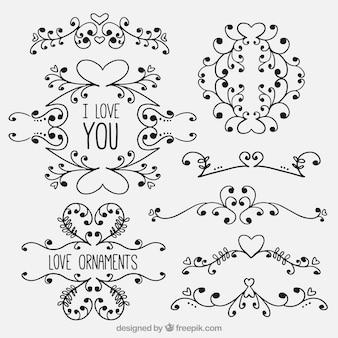 Kreative Liebe Verzierungen