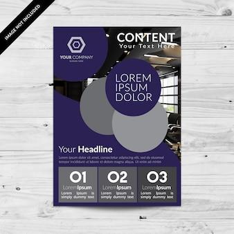 Kreative lila Business-Broschüre