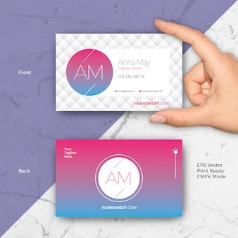 Kreative Mode Visitenkarte