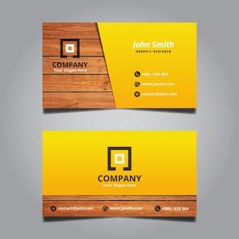 Kreative moderne Holz Visitenkarte
