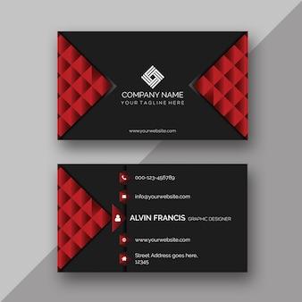 Kreative rote Visitenkarte-Schablone