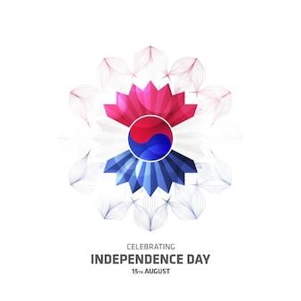 Kreative Südkorea Tag Blume