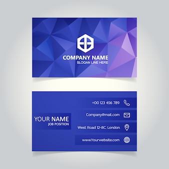 Kreative Visitenkarte Druckvorlage. Flache Design-Vektor-Illustration. Schreibwaren