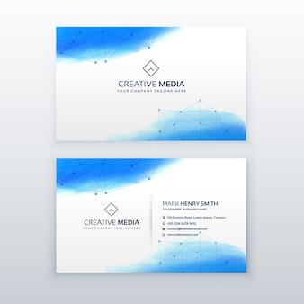 Kreative Visitenkarte einfache Design-Vorlage
