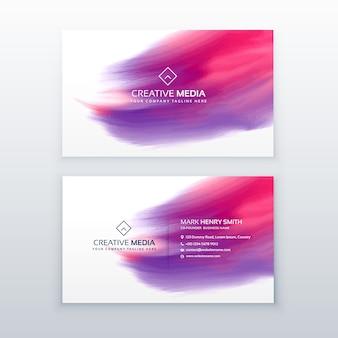 Kreative Visitenkarte mit Aquarell-Effekt