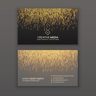Kreative Visitenkarten-Design mit goldenen Glitter Lichteffekt