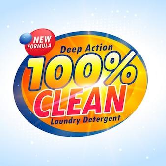 Kreative Waschmittelverpackung Produkt-Design-Vorlage
