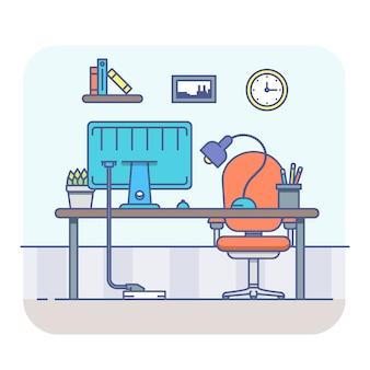 Kreativer Büroarbeitsbereich