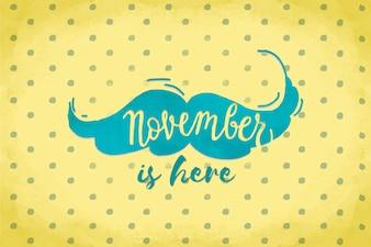 Kreatives Movember-Schriftdesign