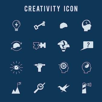 Kreativität Icon-Set