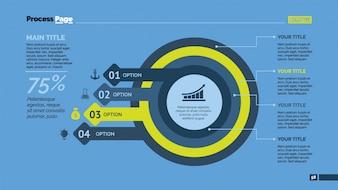 Kreise und Pfeile infografischer Entwurf