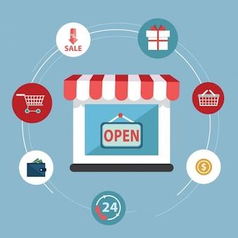Kreisschema für den elektronischen Geschäftsverkehr
