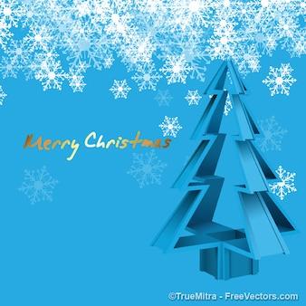 Kristall Weihnachtsbaum mit Schneeflocken