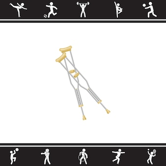 Krücken. Vektor-Illustration