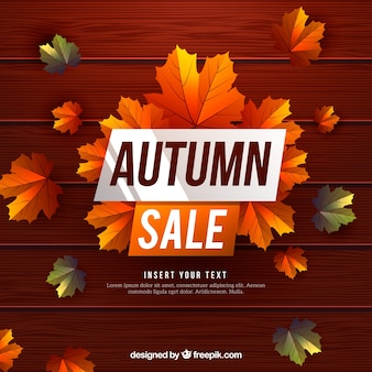 Kühle Blätter und Herbst Verkauf