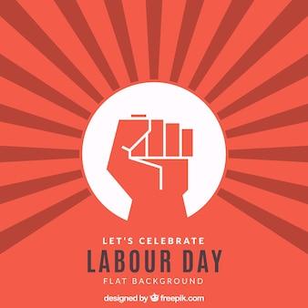 Labor Day Hintergrund mit der Faust