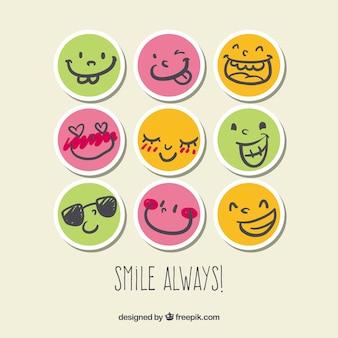 Lächeln Aufkleber
