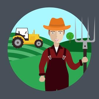 Landwirt Arbeiter