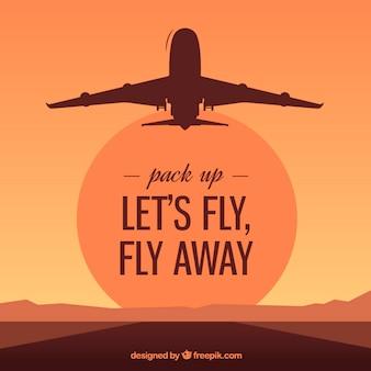Lassen Sie uns fliegen, fliegen weg